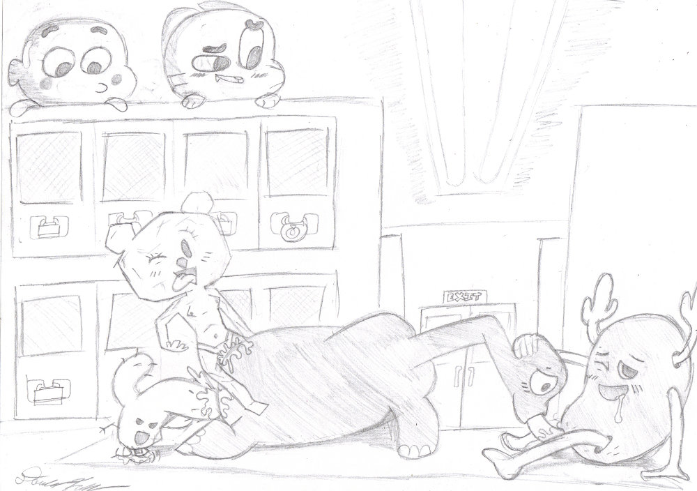world gumball amazing vore of Menage a 3