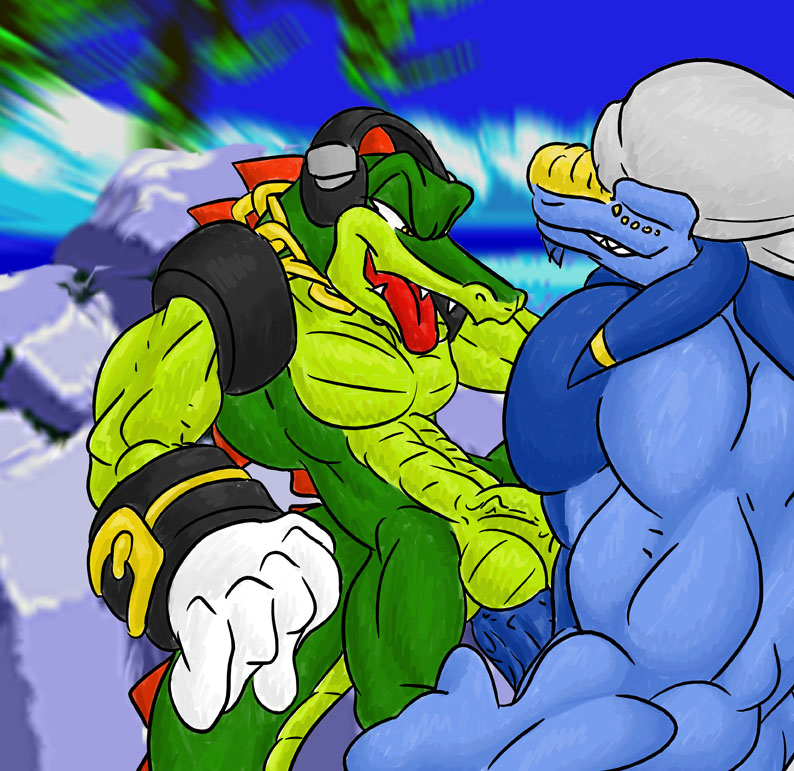 vector the sonic x crocodile Atom smasher justice league unlimited