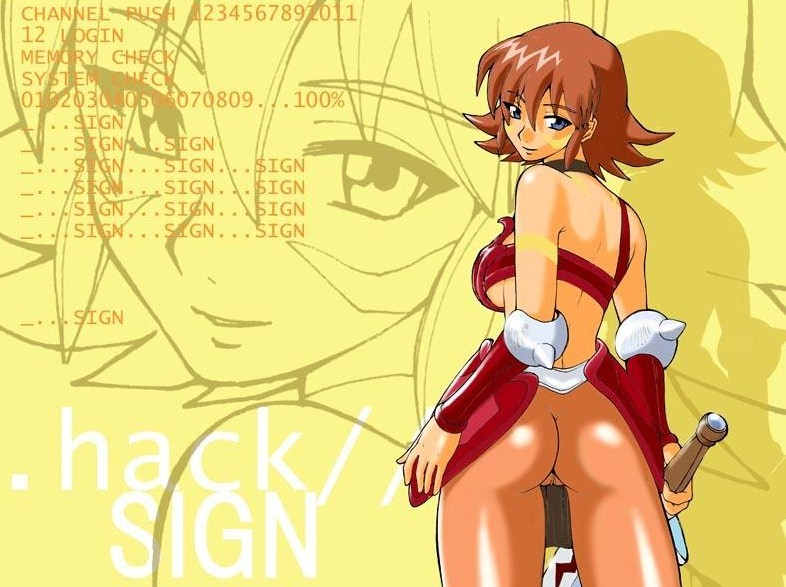 .hack//sign bt Daily life with a monster girl miia