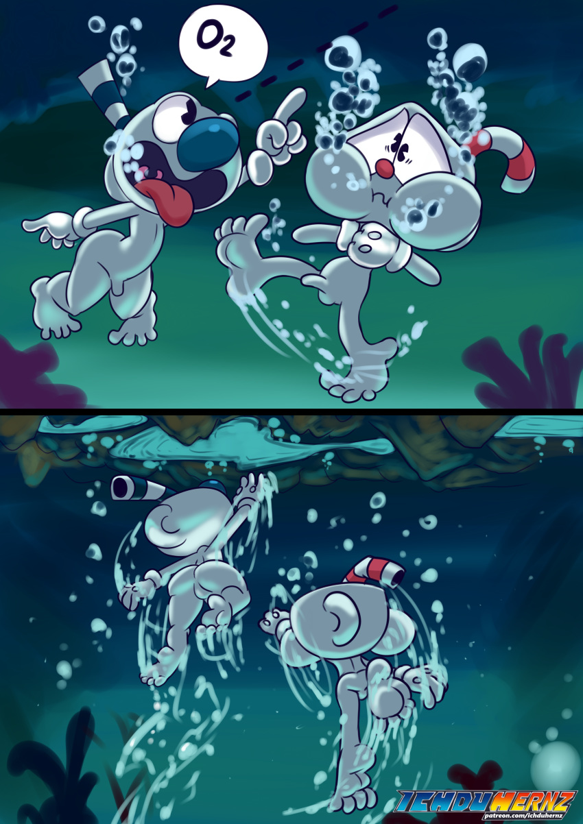 cuphead you are which character Panty and stocking brief genderbend