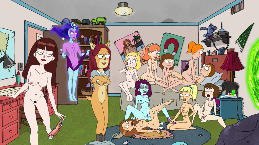 rick jessica morty and tits Beast boy and raven naked